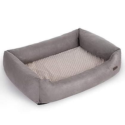 RETRIEVER, SCHÄFERHUND, DOGGE: Mit einer 85 x 60 cm (L x B) großen Liegefläche versehen, eignet sich dieses Hundebett besonders gut für große Hunde bis 45 kg, die sich gerne ausstrecken und ausgiebig entspannen GELENKSCHONEND: Die Liegefläche ist mit...