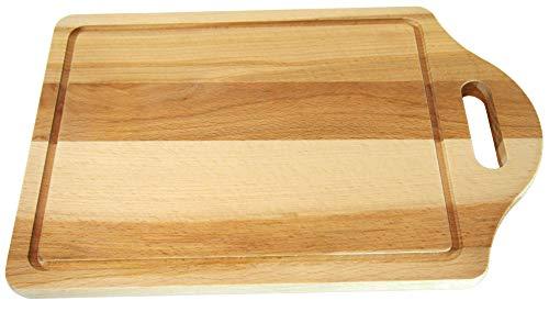 Tagliere in Legno Taglieri da Cucina con Raccogli Succo e Foro per Appenderlo Ottima Alternativa per Vassoio o Tagliere di Formaggi Tagliere da Cucina Legno 30.5x20x1.5cm