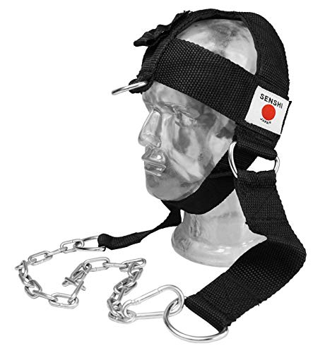 Senshi Japón versión III cinturón de cabeza con cadena para musculación cinturón cuello ejercicio levantamiento de pesas gimnasio Fitness entrenamiento con peso V3