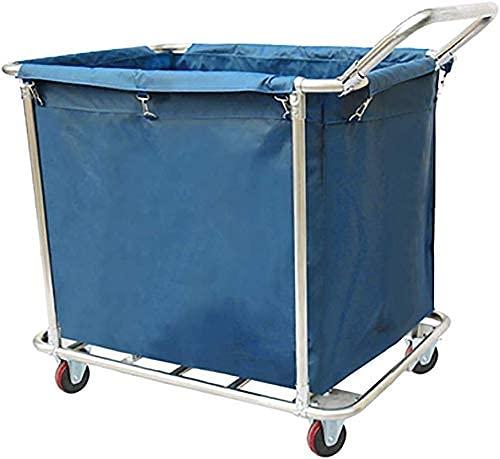MHBGX Multifunktionale Aufbewahrungswagen, Haushalt Servierender Warenkorb Wäscherei Sortierer Einkaufswagen 1 Tasche Mit Griff, Haus Waschküche Kleidung Waschmaschine Mit Walzrädern Abnehmbare Handw