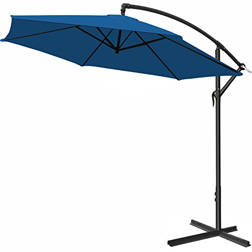 Deuba Parasol en alu - Jardin terrasse Balcon - Pare Soleil - Manivelle -...