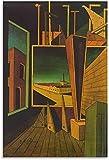 Posters Para Pared Composición geométrica de Giorgio De Chirico con póster de Decoracion de paisaje de fábrica, póster decorativo de impresión de Cuadros artística para pared 50x70cm x1 Sin Marco