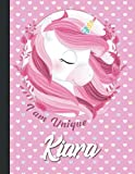 Kiara I am Unique Personalized cute Kawaii unicorn Sketchbook For Girls With their Name,Kindergarten to Early Childhood School sketchbook: Magical ... 8.5x11 - 110 Pages,(Sketch Books For Girls)