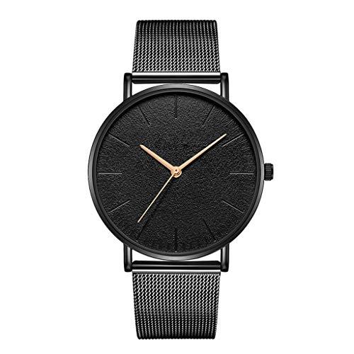 Relojes Para Mujer Moda dama mujer reloj de malla de malla acero inoxidable reloj de pulsera de pulsera de pulsera minimalista regalo de reloj de reloj de pulsera Relojes Decorativos Casuales Para Niñ