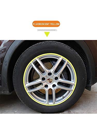 DOGKLDSF Auto-Rad-Reflektierende Aufkleber, DIY Modified Aufkleber, universal Auto-Rad Augenbraue Reflektierende Wasserdicht Sticke (rot, gelb) 16Pcs