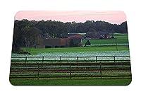 22cmx18cm マウスパッド (ヒポドロームの緑の芝生の家) パターンカスタムの マウスパッド