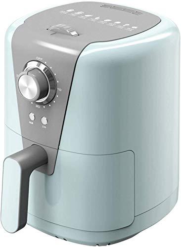 Freidora de aire caliente 1.5L Capacidad Freidora de aire caliente con forro de silicona duradero Freidora de aire libre de aceite antiadherente (color: azul) .r WTZ012