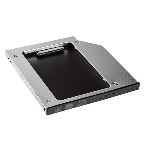 KOLINK HDKO001 Konverter Internal Data Storage mit Einbaurahmen ssd 2,5 Zoll SATA SSD/HDD zu Laptop ODD - 9,9 mm. SSD Halterung mit einfach zu Montieren SSD Einbauset