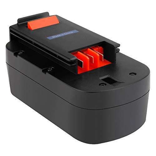 Exmate 18V 3.5Ah Batería para Black and Decker 244760-00 A1718 A18 HPB18 HPB18-OPE Tormenta de fuego A18 FS180BX FS18BX FS18FL FSB18