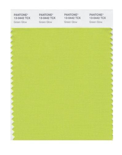 PANTONE Smart 13-0442X Farbmuster-Karte, grün leuchtend