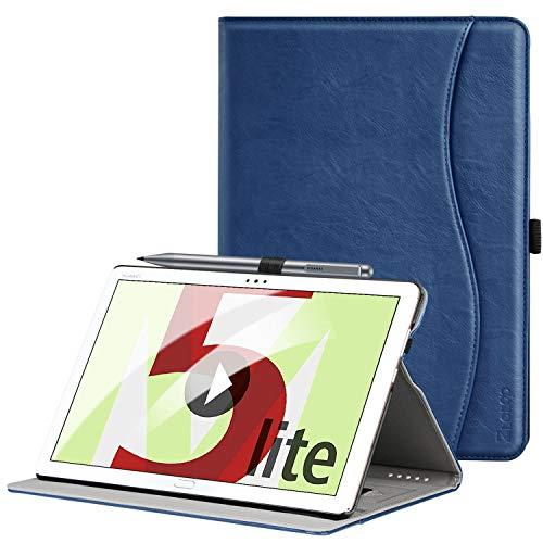 Hülle für Huawei MediaPad M5 Lite 10, Premium Kunstleder Leichte Case mit Auto Schlaf/Wach Funktion und Pen Halter, für Huawei MediaPad M5 Lite 10.1 Zoll 2018 Modell,Navy blau