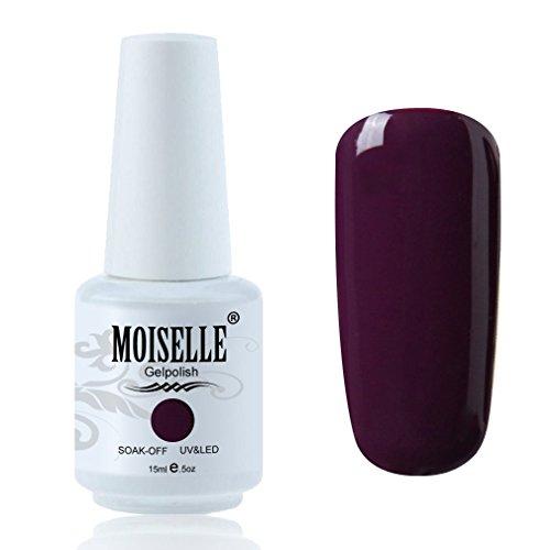 Moiselle Vernis à ongles Semi Permanent de Longue Durée Vernis Gel UV Manucures 15ml Nail Art - Prune #1417