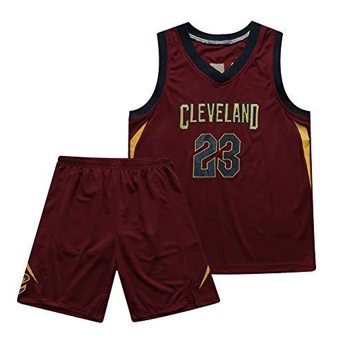 Basketball Trikot-23# Lebron James Cleveland Cavaliers Mesh Atmungsaktives Trikot, Basketball Swingman Trikot Retro Gym Weste Sportbekleidung Unisex T-Shirt (S-3XL)-Redwine-XL