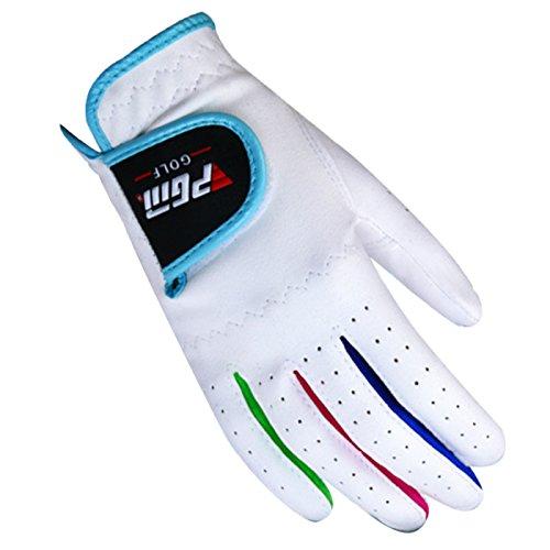 Feoya Kinder Jungen Mädchen Toddles Junior Golf Handschuhe Paar für Links und rechts Hand pink weiß erhältlich, Jungen Mädchen, weiß