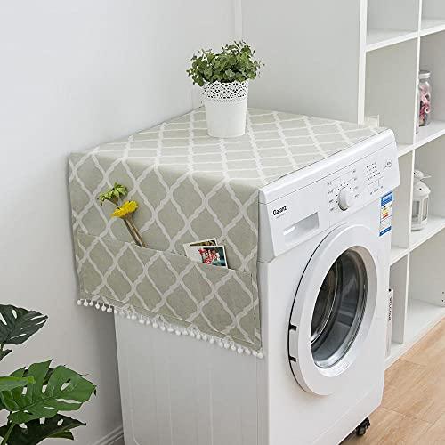 Cubierta de lavadora Cubierta de polvo del refrigerador del hogar con bolsa de almacenamiento lateral multifuncional-A_55 * 130cm