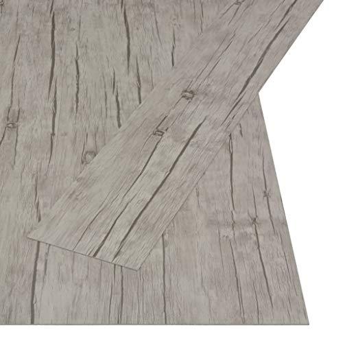 vidaXL PVC Laminat Dielen Selbstklebend Vinylboden Vinyl Boden Bodenbelag Fußboden Designboden Dielenboden Landhausdiele 4,46m² 3mm Eiche gewaschen