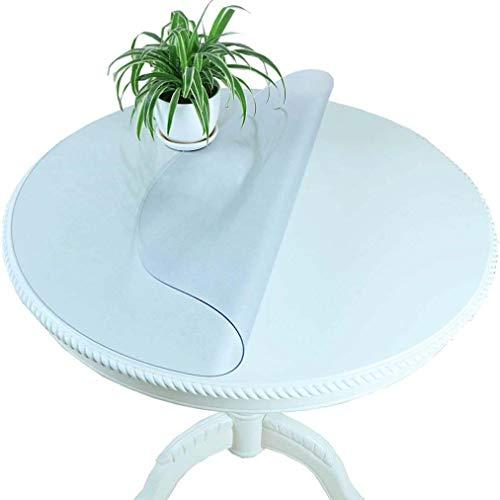 xiaowu Nappe épaisse PVC Ronde en Verre Souple Transparent Cristal imperméable à l'eau Plaque Table Basse Mat, 2.0mm, Diameter 120cm