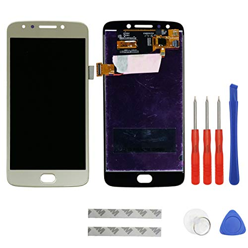 swark LCD Display Compatible with Motorola Moto E4 E 4 Gen XT1767 XT1768 Digitizer Touch Screen Assembly Replacement (Gold) + Tools