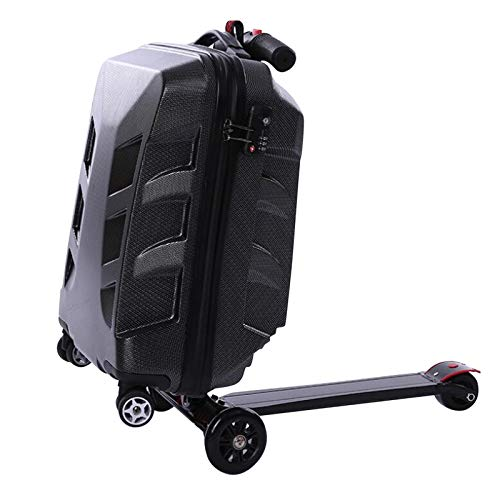 Snowtaros 21' Foldable Luggage Scooter, Suitcase Scooter, Skateboard Rolling Luggage for Adults, TSA Lock, Suitable for Airport Travel Business School