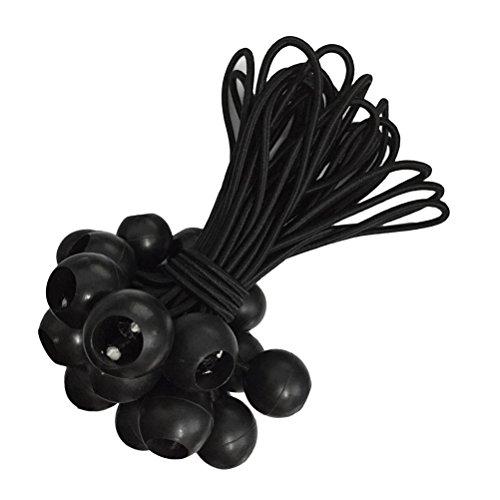 LIOOBO 10pcs Bungee Balls Tarpaulin Cravate Élastique Boucle Attache Sangle pour Sangle Tarp Dormir Bannière Bannière Bâches
