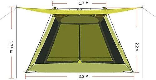 Kmgjc Grande Surface, Anti-UV Partie Tente Camping en Plein air 4-8 Personnes Portable Pliante Plage Tente Pluie Tente Divers Ventilation Conception Grande Taille 320 cm  320 cm  220 cm