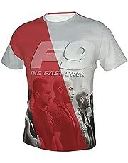 YOMOCO Fast & Furious 9 T-shirt, uniseks, 3D-bedrukt modeshirt, voor mannen en vrouwen, zomer, casual, korte mouwen