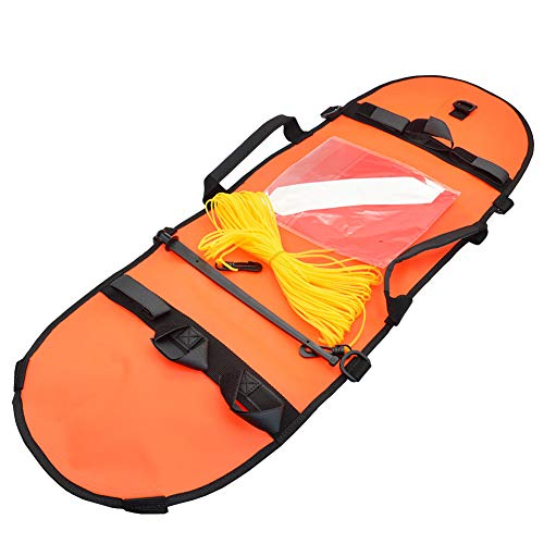 Bandera De Pesca Submarina De Buceo Boya Inflable De Señal De Alta Visibilidad Boya De Señalización para La Pesca De Buceo Buceo Y La Natación (Naranja)