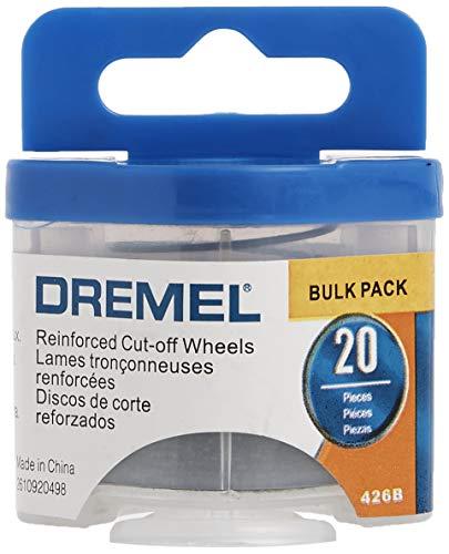 Dremel 426B Fiberglass Reinforced Cut-off Wheels, 1/32-Inch (0.8 mm) Wheel Diameter, Rotary Tool Cutting Disc Accessory, 20 Pieces , Silver