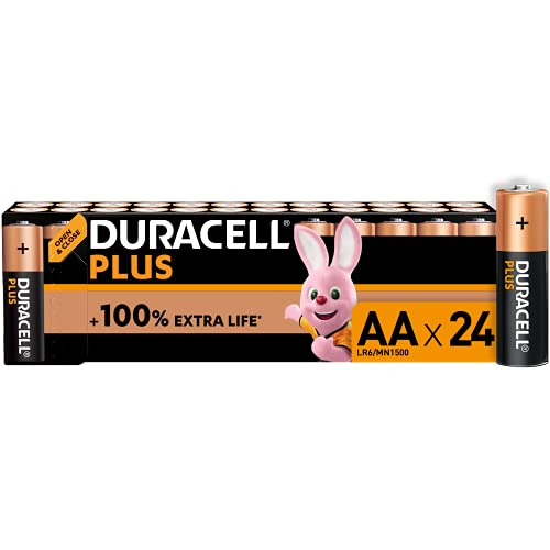 Duracell - NUOVO Plus AA, Batterie Stilo Alcaline, confezione da 24, 1.5 volt LR6 MN1500