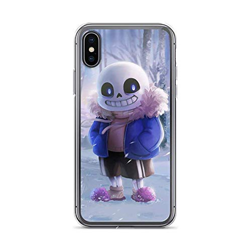 Compatible with iPhone XR Case Undertale Skull Smile Horror American Indie Game Pure Clear Phone Cases Drop Protection Anti-Scratch Cover