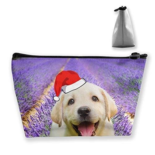 Beau sac de rangement en forme de fleur de lavande - Sac de maquillage de Noël - Grand trapèze - Sac de voyage - Trousse de maquillage - Fermeture éclair - Imperméable