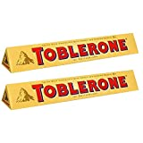 Toblerone of Switzerland Milk Chocolate with Honey and Almond Nougat - 2 Pack Pouch, 2 X 100 g