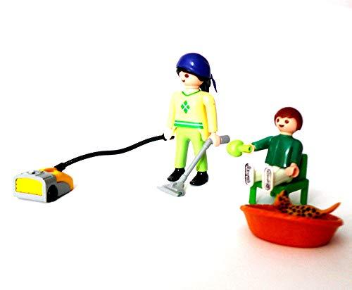 playmobil ® - Frau mit Tochter Staubsauger und Katze