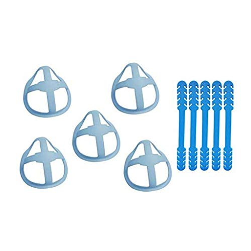 LIHAEI 3D-Maskenhalterung,Mehr Platz für bequemes Atmen,Geeignet für alle Arten von Masken,Einstellbare Haken Ohrenriemen für Erwachsene und Kinder,Waschbar
