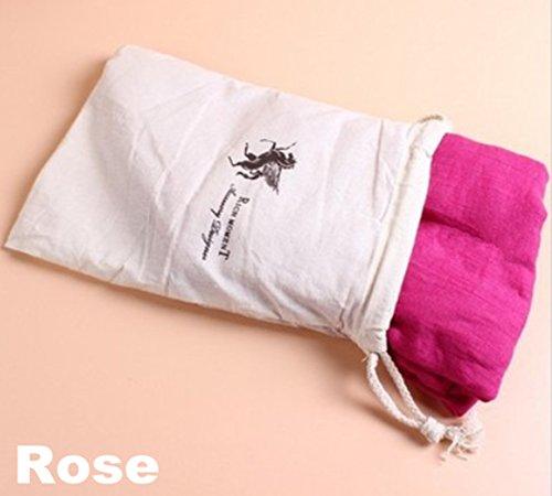 Careforyou Girl Femme Lady Mode Rides en coton et lin solide longue froissé souple Écharpe foulards Wrap Voile Wraps Étole Châle Pure Candy Couleur - -