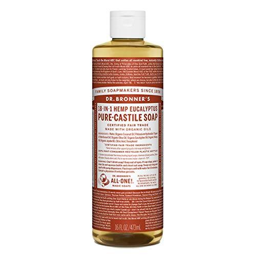 Dr. Bronner's Savon liquide bio d'eucalyptus pur-castille