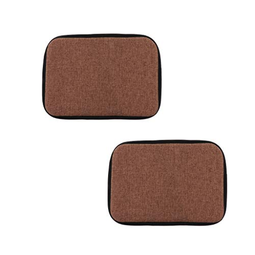 F Fityle 2Pieces 30x40cm Cotton Brown Office Home Chair Cushion Dining Chair Pads with Gripper Backing