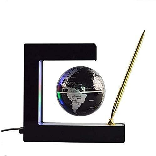 aipipl SuRose World Globe explora el Mundo Levitación magnética 3'Globo Flotante con bolígrafo Tecnología Creativa Luces LED Coloridas Regalos educativos para niños Regalos creativos Decoraciones