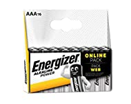 16-pack of Energizer Alkaline Power AAA batteries Leak-resistant design ensures your batteries won't leak in storage so they're ready when you are Long-lasting power for your family's everyday devices, like remotes, flashlights, clocks, toys, and mor...