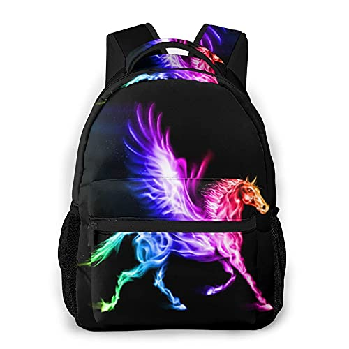 Everyday Essentials Backpack,Fire Pegasus In Spectrum Colors,Casual...