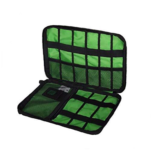 1pc Organizer Travel Universal Cable Organizer Tasche wasserdichte Elektronik-zubehör Aufbewahrung Für Kabel, Ladegerät, Handy, USB, Sd-Karte (schwarz)