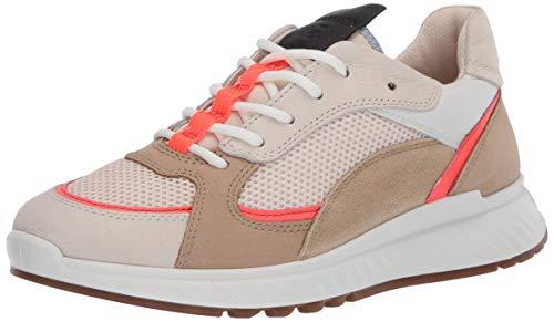 Ecco Damen ST.1W Sneaker, Beige (Vanilla/Coral Neon/Vanilla/Beige 51891), 38 EU
