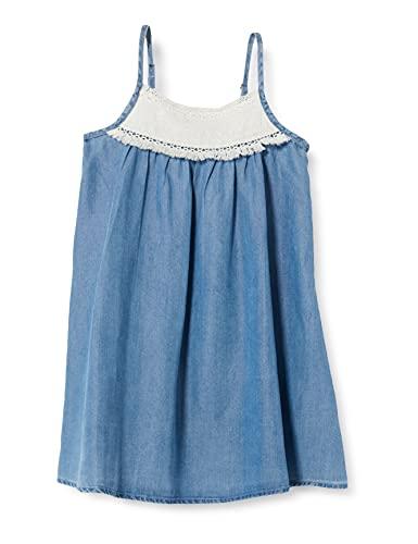 IKKS Robe À Bretelles Bleu Clair Avec Inscription Vestido para Niños