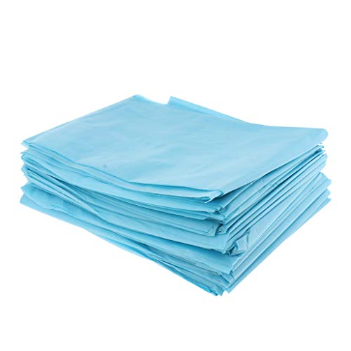 MERIGLARE 20 Pieces Disposable Bed Linen Non Woven Waterproof Duvet Sheets for - Blue