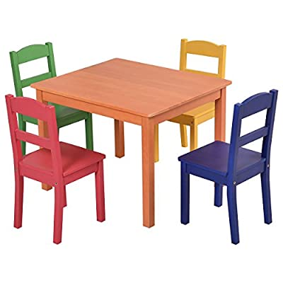 Costzon Kids 5 Piece Table and Chair Set