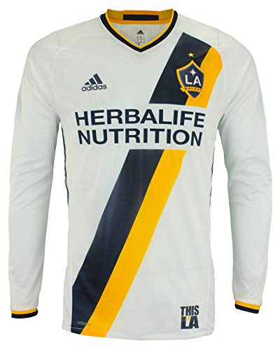 adidas Herren MLS Cllimacool Authentic Langarm-Trikot, mehrere Teams, Herren, Los Angeles Galaxy, Medium