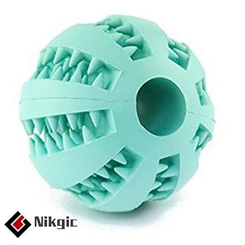 Nikgic Hundespielzeug Ball Natur-Gummi Hundeball Hundespielball Kauspielzeug Kauspielzeug Spielzeug Kauball für Hunde Hunde-Spielzeug zum Kauen mit Zahnpflege-Funktion