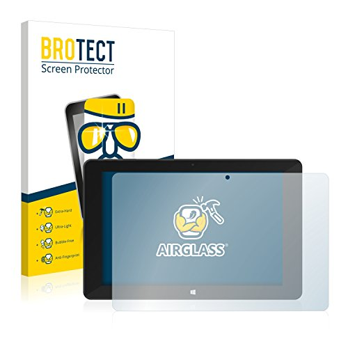 BROTECT Panzerglas Schutzfolie kompatibel mit TrekStor SurfTab Duo W1 - AirGlass, 9H Festigkeit, Anti-Fingerprint, HD-Clear