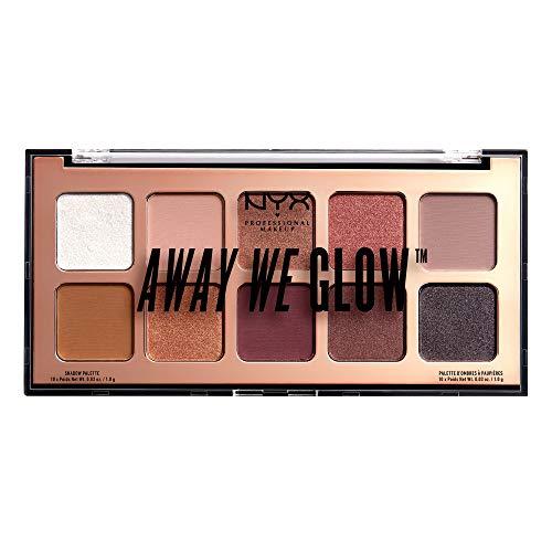NYX Professional Makeup Palette Ombretti Away We Glow, 10 Ombretti Ultra Vellutati, Nuance: Lovebeam, Taglia unica