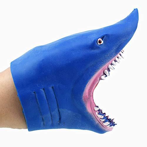 WanXingY Tiburón Mano títere Animal Cabeza Guantes Suave Silicona Guantes tiburón Modelo Navidad año Nuevo Regalo para niños Juguetes para niños (Color : 02)